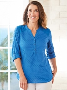 Dobby Spot Cotton Tunic