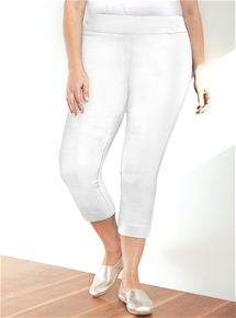 Pull On 3/4 Stretch Pant [PLUS SIZE]