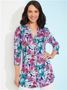 Pintuck Knit Tunic