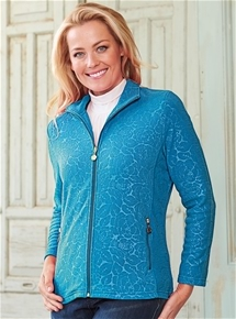 Embossed Fleece Jacket