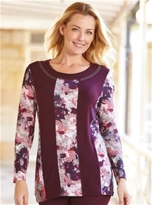 Contrast Panelled Tunic Top