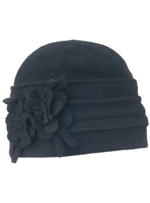 Flower Wool Knit Beanie