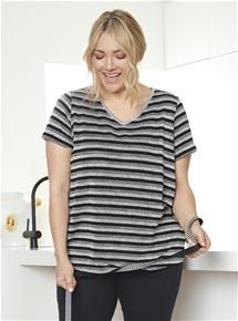 Short Sleeve V Neck Tee [PLUS SIZE]