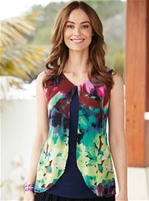 Layered Watercolours Top