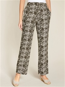 Abstract Print Pants