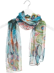 Peacock Print Scarf