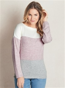 Block Stripe Cosy Sweater