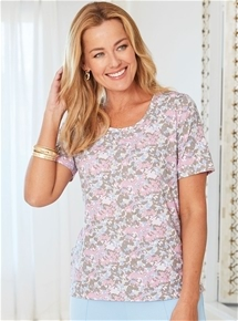Jersey Blossom Top