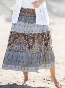 Tiered Cotton Skirt
