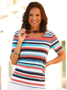 Summer Bright Stripe Tee