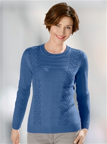 Lattice Rib Sweater