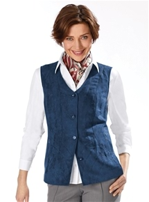Suedette Button Vest