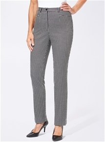 Houndstooth Trousers Long