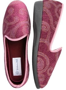 Velour Embossed Slipper
