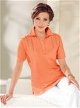 Lace Trim Polo_17R87_1
