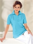 Lace Trim Polo_17R87_2