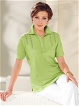 Lace Trim Polo_17R87_3