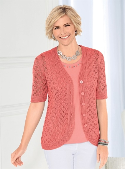 Honeycomb Knit Cardigan